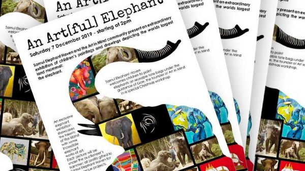 An Artful Elephant Event Flyer for Samui Elephant Haven