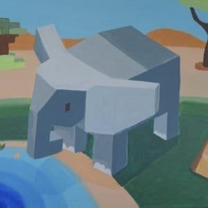 #29 Cubed Elephant (Aged 10)