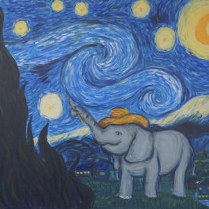 #31 Painting the Starry Night (Aged 10)