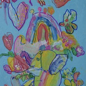 #5 Rainbow With An Elephant's Flower (Aged 4)